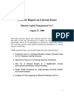 Clean Energy Capital - Ethanol - Report on Current Issues - Aug 27 2008