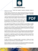 "29-05-2013 El Gobernador Guillermo Padrés entregó 10 millones de pesos del programa ""Todo Pavimentado"" a autoridades municipales. B0513141"