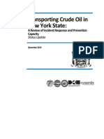 NY State Crude Oil Transport Progress Report