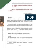 La Política Exterior Argentina Frente Al Conflicto Cubano de 1898