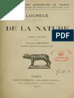 Lucrece, De La Nature