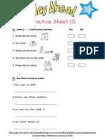 Practice Sheet 10