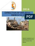 """Directiva """"Lineamientos Para La Realización de Simulacros Por Sismo y Tsunami a Nivel Nacional"""