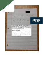 Student 3 Work Sample