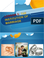 l5 - The Institution of Marriage