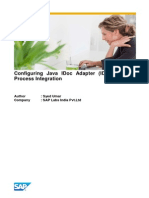 Configuring Java IDoc Adapter (IDoc_AAE) in Process Integration