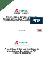 Procedimiento Critico PEP  Delimitacion de Areas