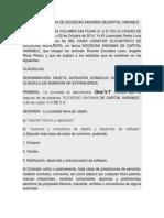 1-Acta Constitutiva de Sociedad Anonima Decapital Variable