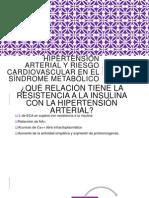 Hipertensión Arterial y Riesgo Cardiovascular en El Síndrome