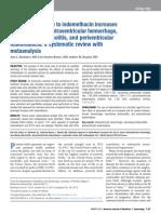 Exposicion Antenatal a Indometacina Incrementa El Riesgo a Hemorragia Intraventricular, Enterocolitis Necrotizante y Periventricular Leucomalasia