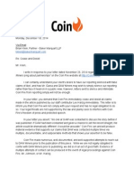 Coin Fire Response to GAW Miners C&D