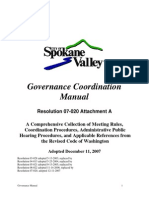 Spokane Valley Governance Manual