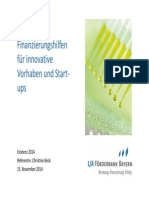 Existenz 2014 Oeffentliche Finanzierungshilfen Fuer Innovative Vorhaben Und Sta