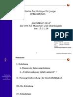 Existenz 2014 Praktische Rechtstipps Fuer Junge Unternehmen