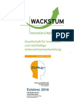 Existenz 2014 Social Entrepreneurship Gruenden in Den Bereichen Umwelt. Gesells