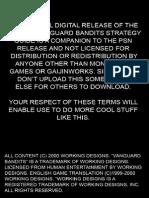 PSN VanguardBandits Strategy Guide