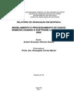 Modelagem e processamento de dados sísmicos usando o SU