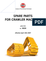 Berco Spare Parts for Crawler Machines