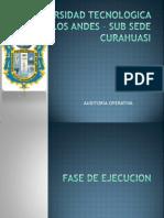 Fase de Ejecucion (Auditoria Operativa)