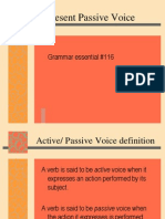 present passive voice