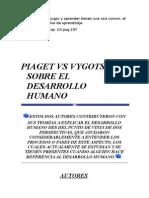 Piaget vs Vygotsky Sobre El Desarrollo Humano