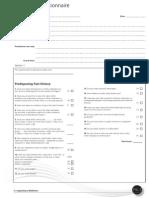 Dysbiosis Questionnaire