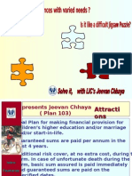 Jeevan Chhaya -  Right Policy for a person who wants to provide funds for Daughter's Marriage. This Plan is open even to Bachelors.