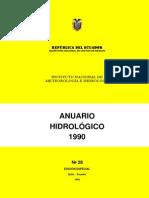 Anuario Hidrológico Ecuador 1990 INAMHI