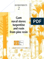 Turpentine and Rosin From Pine Resin