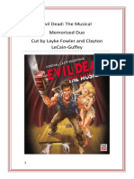 Evil Dead the Musical Cutting