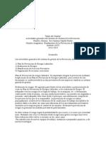 Actividades generales del Sistema de Gestión de la Prevención.