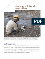 How a Well-Intentioned U.S. Law Left Congolese Miners Jobless