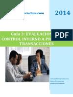 Guia No. 3 Evaluacion de Controles Proceso y Transacciones