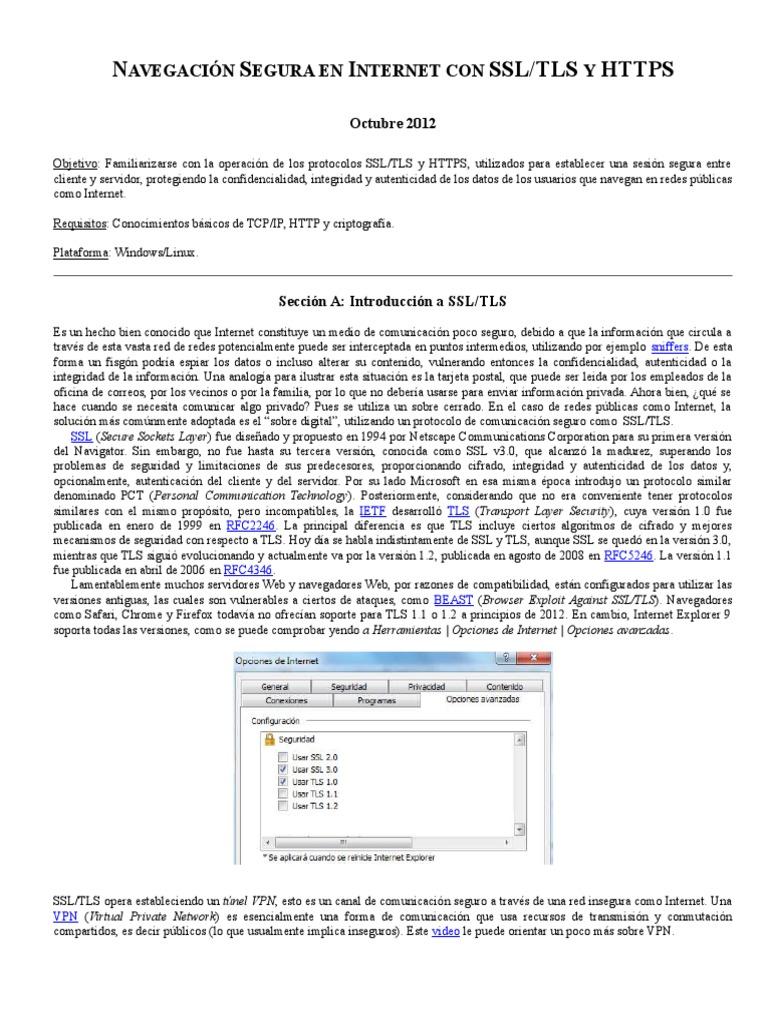 Navegación Segura Con SSL-TLS y HTTPS