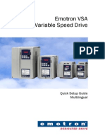 Emotron Frequency Inverter Vsa Quick Start Guide 01-3991-11 r3 Multilingual