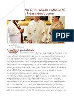 An Appeal From a Sri Lankan Catholic to Pope Francis Please Don't Come