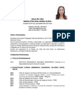 Curriculum Vitae Indira Horna Elera