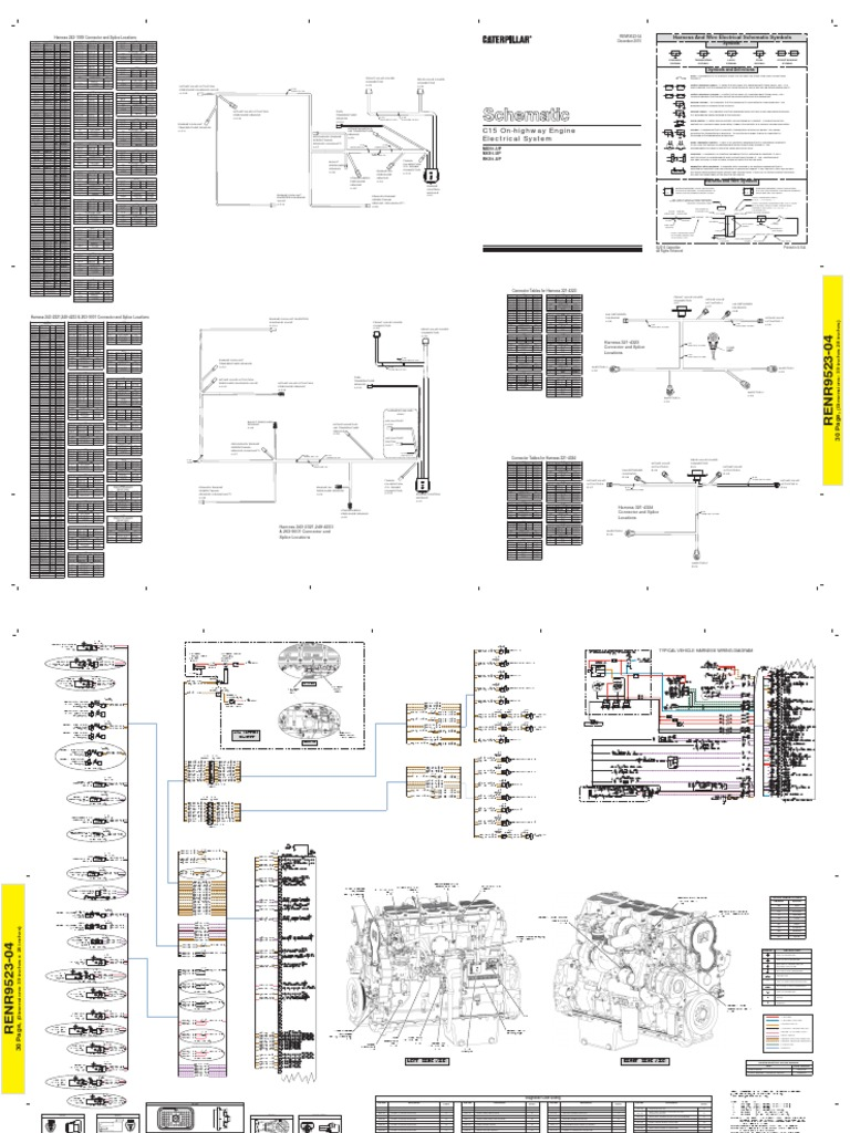 cat c12 c13 c15 electric schematic document