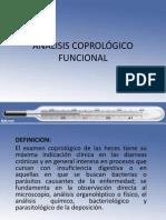 Analisis Coprológico Funcional