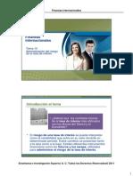 14 Administración de riesgo de la tasa de interes