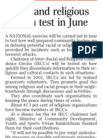 Singapore to Have Telephone Recall Exercise to Test Responses of IRCCs, 30 Mar 2009, Straits Times