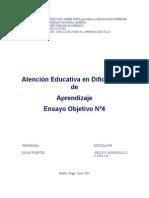 590 EnsayoAtención Educativa en Dificultades de Aprendizaje Objetivo Numero 4