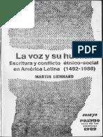 Lienhard, La Voz, Caps 1 y 2