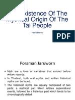 Myth of Tai People Origin