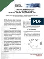 control cosenoidal puro carga altamente inductiva
