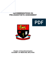 Preanaesthetic Assessment