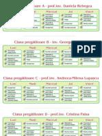 Orarul claselor primare 2014-2015