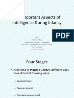 the important aspects of intelligence during infancy