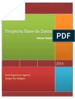 Proyecto Base de Datos-Manual Tecnico