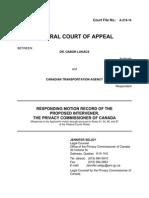 Response to Refusals Motion (November 24, 2014)